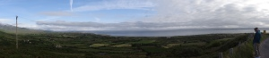 A panorama of the Dingle Peninsula.