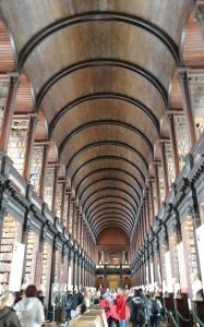 Trinity College Library in Dublin, where the Book of Kells is kept.