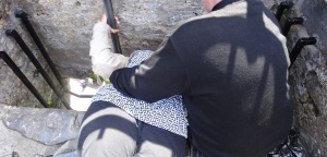 Kissing the Blarney Stone.